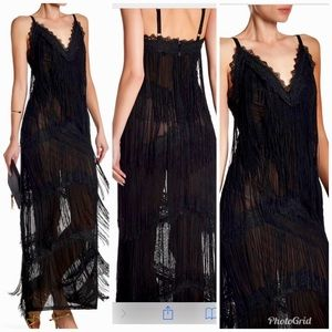 Wow Couture fringe sheer Lacey dress